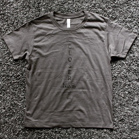BLACKORDER ORDER-046 『CLOSER No.9』T-shirts  SMOKE × BLACK