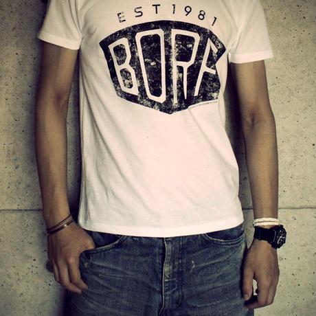 BLACKORDER  ORDER-030 『BORF』T-shirts WHITE