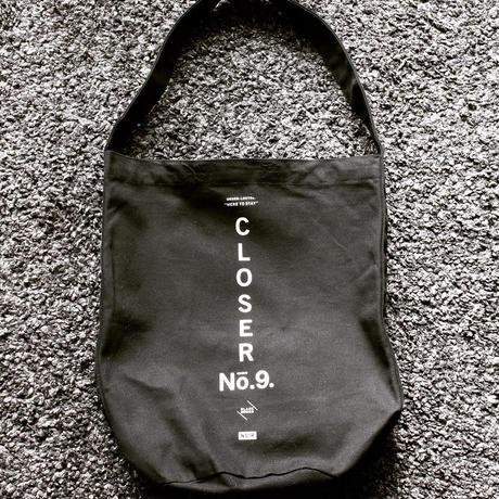 BLACKORDER ORDER-048 『CLOSER No.9』HEAVY CANBAS  SHOULDER BAG  BLACK × WHITE