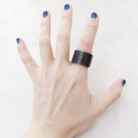 REBEL GEAR leather ring