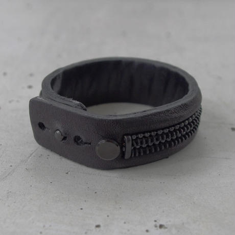 ZIP CHAIN leather bracelet