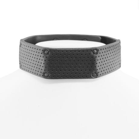 BRUTALIST polygon leather choker