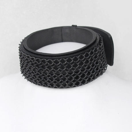 CHAIN FENCE & leather choker