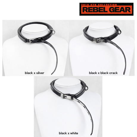 LAYERED leather long belt choker