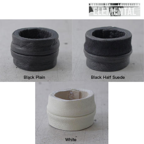 LEATHER LUMP ring