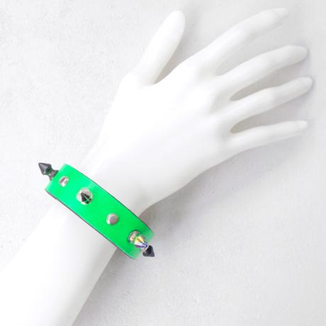 SPIKE leather bracelet(neon)