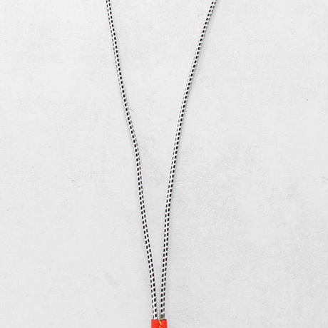 RUBBER CODE & multi charm necklace