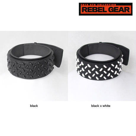 CHECKER PLATE studs leather big choker