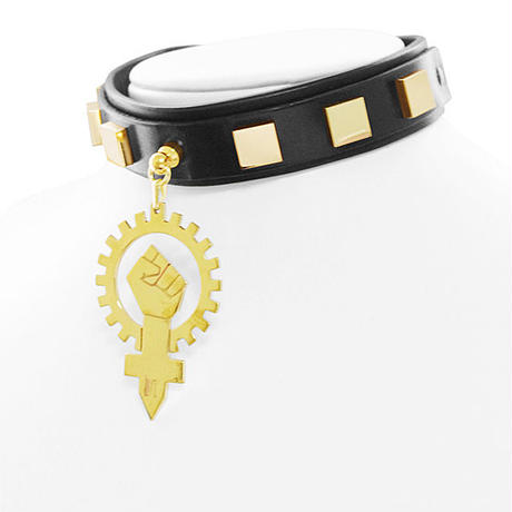 SYMBOL leather choker