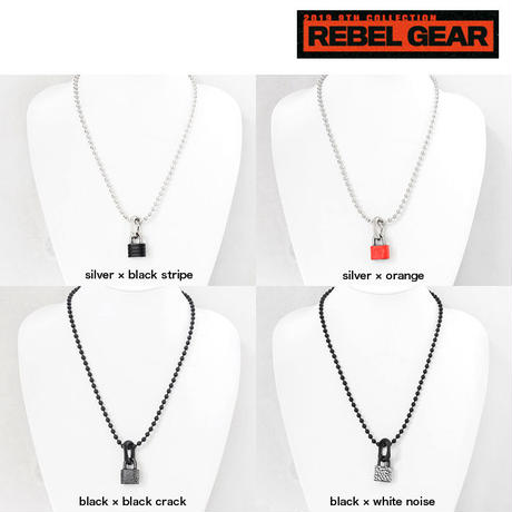 PADLOCK & chain bits short necklace