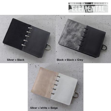 BI COLOR staple leather card case