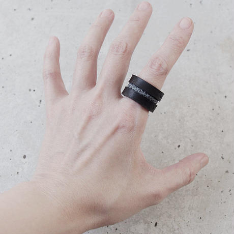 LINE leather ring