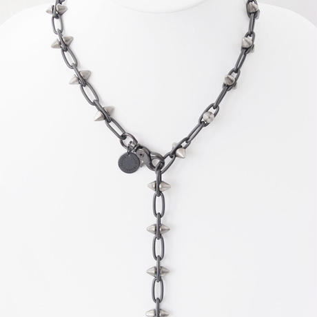SPIKE & chain choker necklace