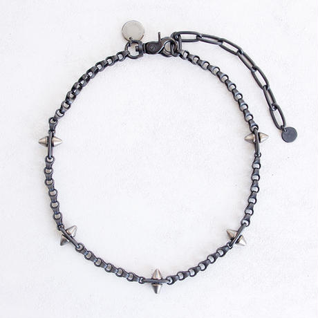 SPIKE & industrial chain short necklace