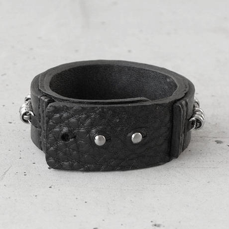 BARBED WIRE chain & leather bracelet