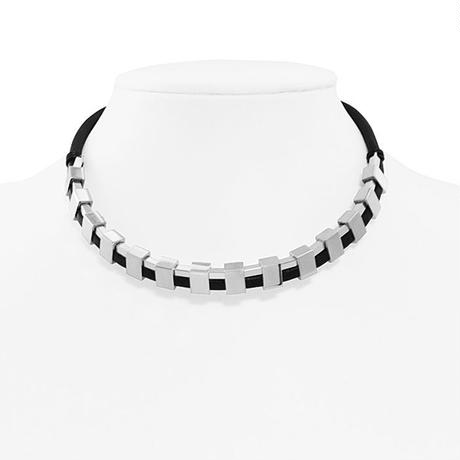 INDUSTRIAL leather necklace