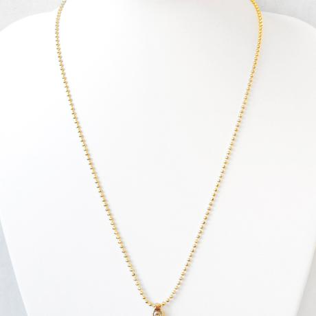 SPIKE & ball chain middle necklace