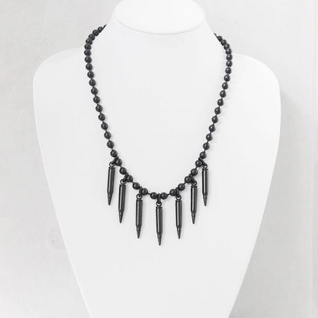 BULLETS & ball chain middle necklace
