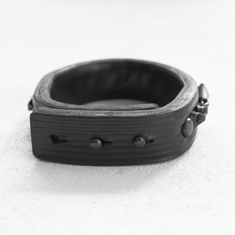 SPIKE & industrial chain leather bracelet