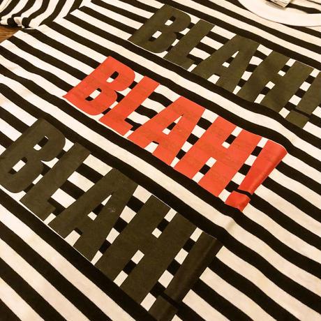 BLAH BLAH BLAH T-shirt   ボーダー   (black / white)