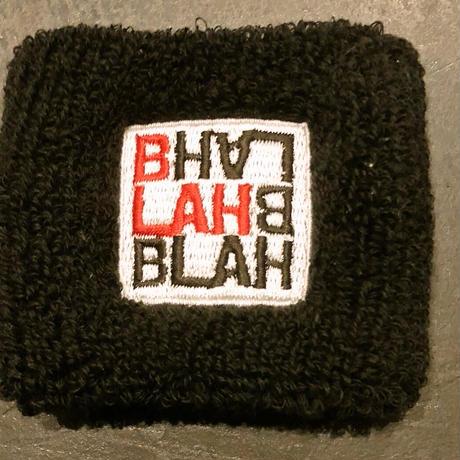 Newアイテム!!   BLAH BLAH BLAH ロゴ刺繍リストバンド