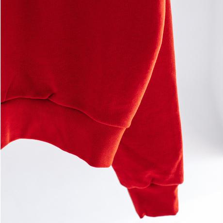 カラーブロック裏毛 刺繍&プリントトレーナー【BB14-905】