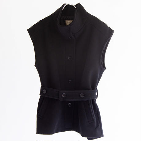 圧縮WOOL スタンドネック袖なしジャケット【BB14-202】