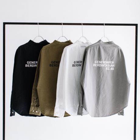 綿ツイル バックプリントパールボタンシャツ【BB14-106】