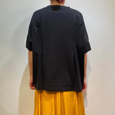 オーガニックコットン×布帛 SIDE切替半袖TOPS【BB13-961】