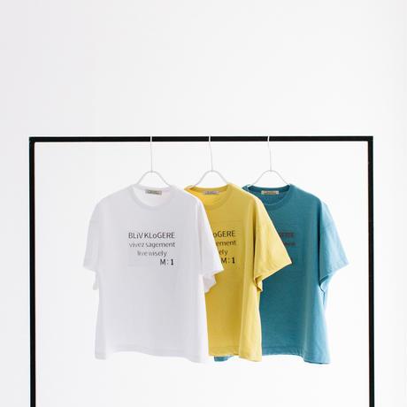 T/C天竺エンボスプリント 半袖Tシャツ【BB12-944】