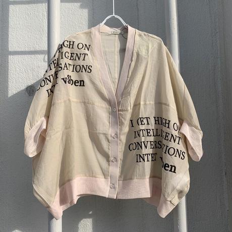 C/Cuローン プリント入りドルマン袖カーデ【BB12-939】