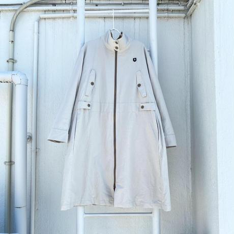 Ny/Rayonバックサテン バックモチーフ付きコート【BB14-207】