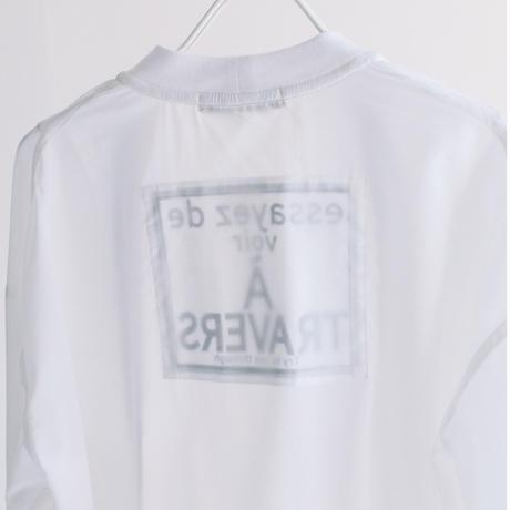 Silk/Nyストレッチシフォン  V/N長袖カーデ【BB12-937】