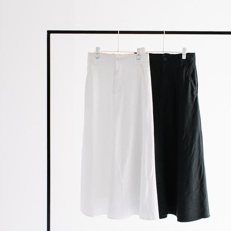 綿麻ライトバックサテン セミフレアーLONGスカート【BB12-604】