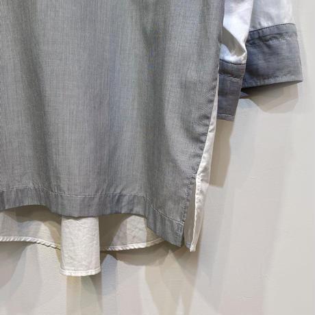 綿ローン 異素材MIXロゴプルオーバー【BB13-134】