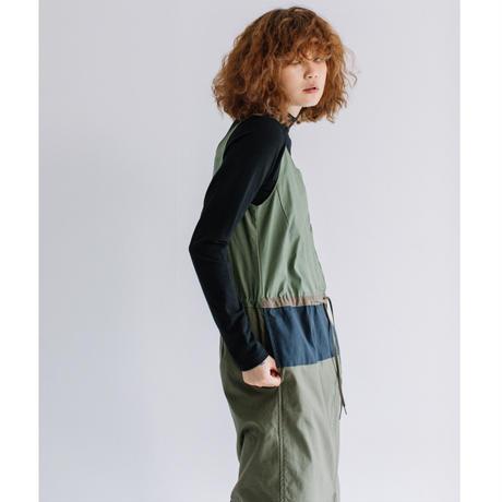バックサテンスラブストレッチ オーバーワンピ【BB14-401】