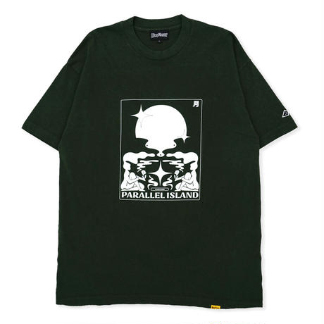 S/S Parallel Island Tee - Dark Green