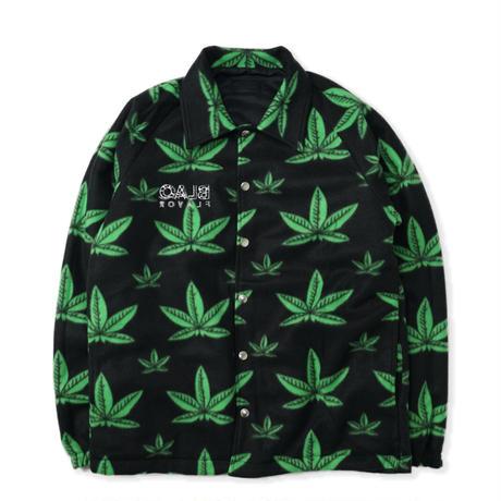 Yes, We Have Jacket - Black/Leaves