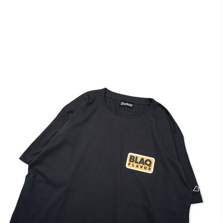 S/S Round Flame Tee - Charcoal Black