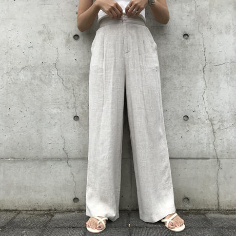 Original美ラインリネンフロントボタンワイドパンツ☆