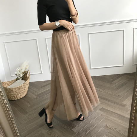 ボリュームチュールレイヤードスカート