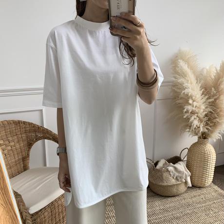 cotton100%チュニック丈Tシャツ