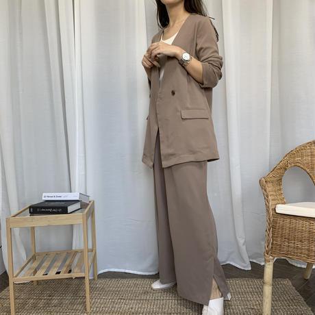 高身長さん向け裾スリットパンツ