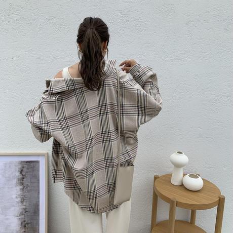 9/22入荷・シンプルルーズチェックシャツ
