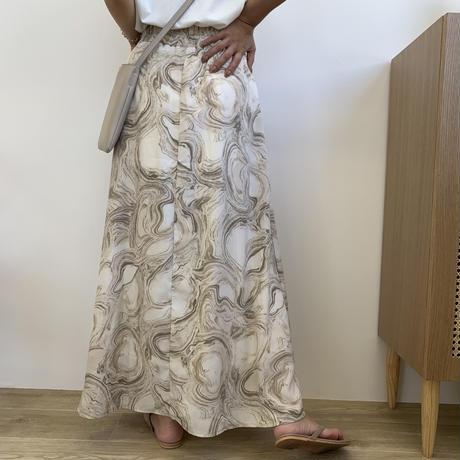 マーブルフレアマキシスカート