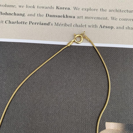 silver925・スネイクゴールドネックレス