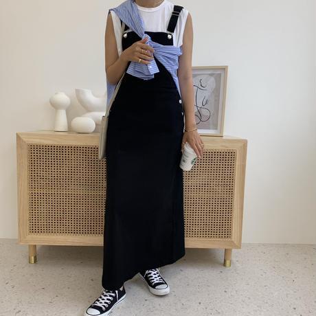 美ラインサロペットスカート