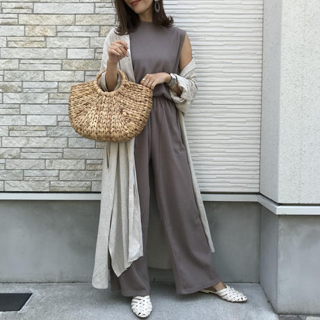 made in japan cotton100%ワッフルワイドセットアップ