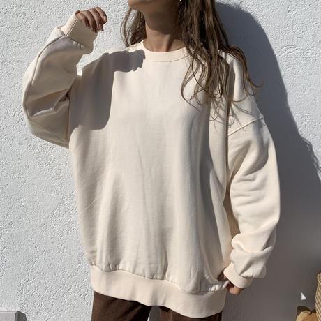 裏起毛cotton100%ユニセックスプルオーバースウェット