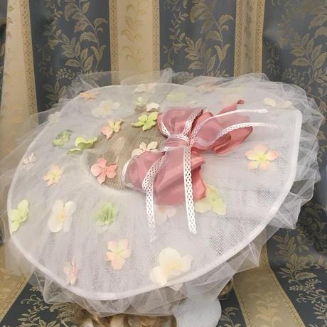 花の妖精 ドレスハット  ピンク×グリーン
